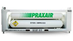 Praxair tubes on rack